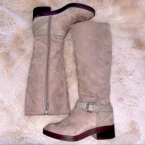 Zara buckle knee tall riding  boots size size 8